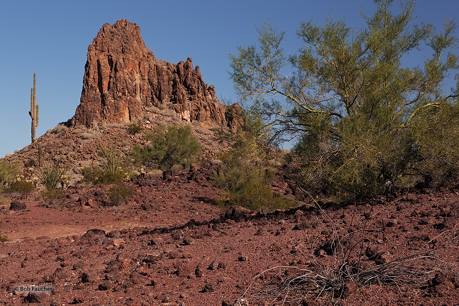 Valley of the Ajo,volcanic plug, photo