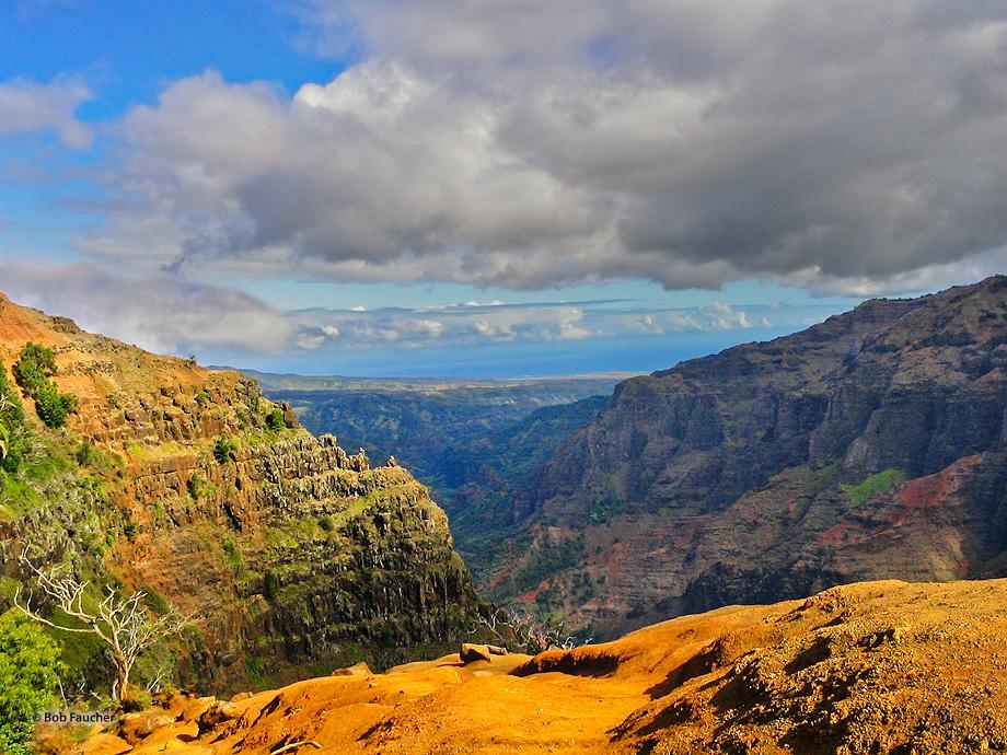 Waipo'o Falls,Waimea Canyon,Kauai,Kokee Rain Forest, photo