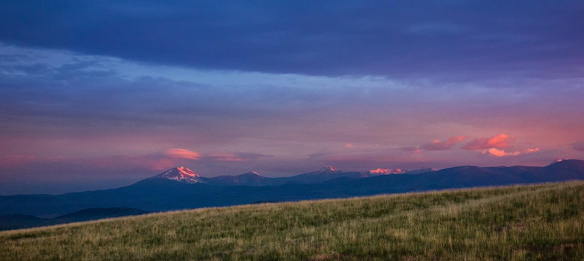 Montana, morning, sunrise, alpenglow, photo